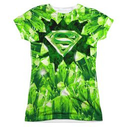 Superman Kryptonite Shield Sublimation Juniors Shirt