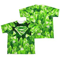 Superman Kryptonite Shield Sublimation Kids Shirt Front/Back Print
