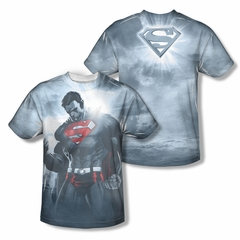 Superman Light Of The Sun Sublimation Shirt Front/Back Print