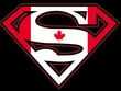 Superman Logo Shirt Canadian Shield Canada Maple Leaf Black T-Shirt