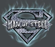 Superman Logo T-shirt Man Of Steel Shield Charcoal Gray Tee Shirt