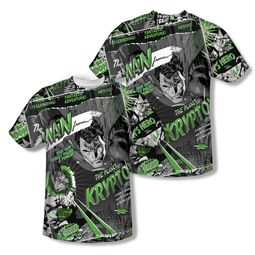 Superman Man From Krypton Sublimation Shirt Front/Back Print