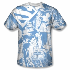 Superman Man Of Steel Collage Sublimation Shirt