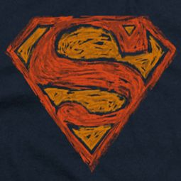 Superman Messy Shield Shirts