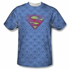 Superman Repeat Over Distressed Sublimation Shirt