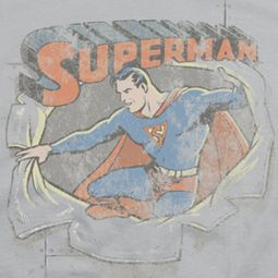 Superman Ripping Shirts