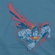 Superman Scribble And Soar Shirts