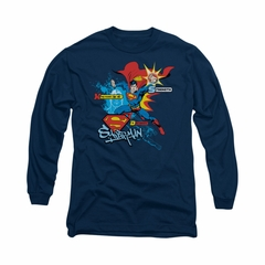 Superman Shirt Abilities Long Sleeve Navy Tee T-Shirt