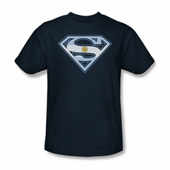 Superman Shirt Argentinian Shield Navy T-Shirt