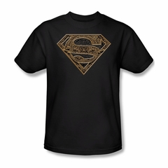 Superman Shirt Aztec Shield Black T-Shirt