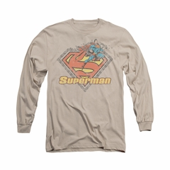 Superman Shirt Breaking Chains Long Sleeve Sand Tee T-Shirt