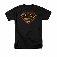 Superman Shirt Colored Shield Black T-Shirt