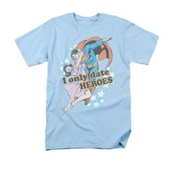 Superman Shirt Date Heroes Light Blue T-Shirt