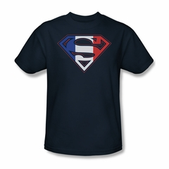 Superman Shirt French Shield Navy T-Shirt