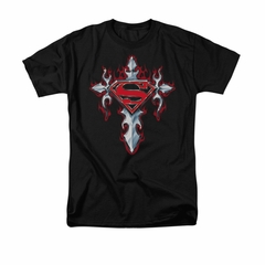 Superman Shirt Gothic Cross Black T-Shirt