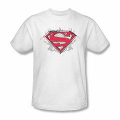 Superman Shirt Hastily Drawn White T-Shirt