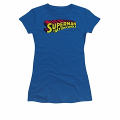 Superman Shirt Juniors Action Comics Royal T-Shirt