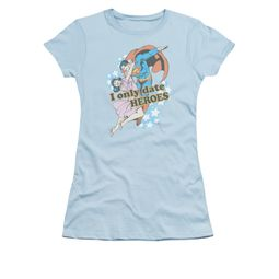 Superman Shirt Juniors Date Heroes Light Blue T-Shirt