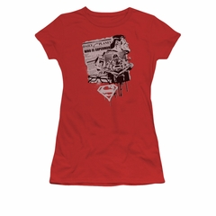 Superman Shirt Juniors Identity Red T-Shirt