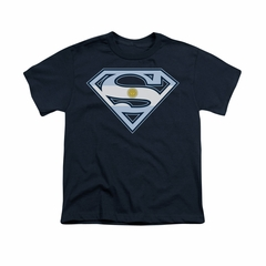 Superman Shirt Kids Argentinian Shield Navy T-Shirt