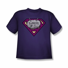 Superman Shirt Kids Bizzaro #1 Purple T-Shirt