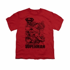 Superman Shirt Kids Breaking Chains Red T-Shirt