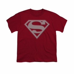 Superman Shirt Kids Crimson & Gray Cardinal T-Shirt
