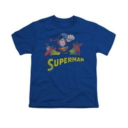 Superman Shirt Kids Distresed Royal T-Shirt