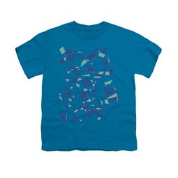 Superman Shirt Kids Geo Scribbles Turquoise T-Shirt