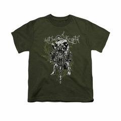 Superman Shirt Kids Gothic Last Son Olive T-Shirt