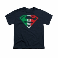 Superman Shirt Kids Mexican Shield Navy T-Shirt