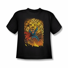 Superman Shirt Kids Planet Lift Black T-Shirt
