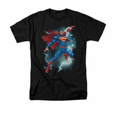 Superman Shirt Lightning Black T-Shirt