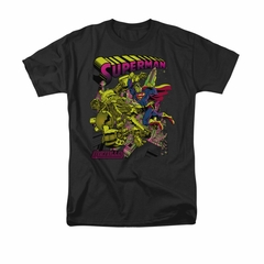 Superman Shirt Metallo Black T-Shirt