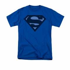 Superman Shirt Navy Shield Royal Blue T-Shirt