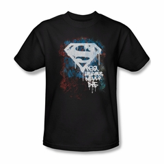 Superman Shirt Never Die Black T-Shirt