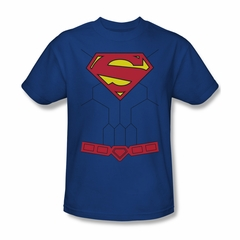 Superman Shirt New Torso Royal Blue T-Shirt