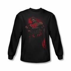 Superman Shirt Red Son Long Sleeve Black Tee T-Shirt