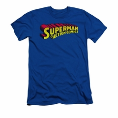 Superman Shirt Slim Fit Action Comics Royal T-Shirt