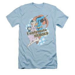 Superman Shirt Slim Fit Date Heroes Light Blue T-Shirt