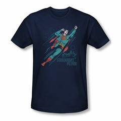Superman Shirt Slim Fit Frequent Flyer Navy T-Shirt
