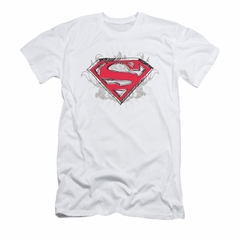 Superman Shirt Slim Fit Hastily Drawn White T-Shirt