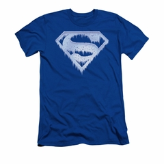Superman Shirt Slim Fit Ice Shield Royal T-Shirt