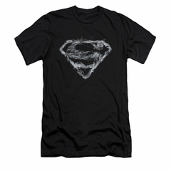 Superman Shirt Slim Fit Smoke Shield Black T-Shirt