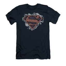 Superman Shirt Slim Fit Storm Clouds Navy T-Shirt