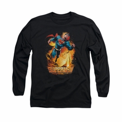 Superman Shirt Space Case Long Sleeve Black Tee T-Shirt