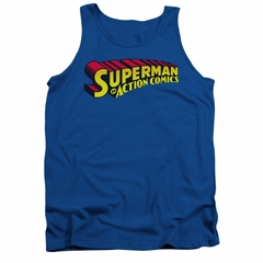 Superman Shirt Tank Top Action Comics Royal Tanktop