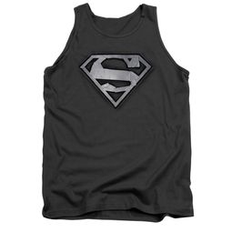 Superman Shirt Tank Top Duct Tape Shield Charcoal Tanktop