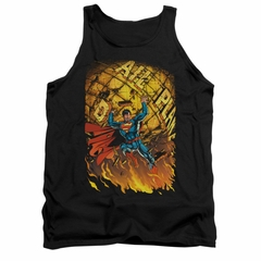 Superman Shirt Tank Top Planet Lift Black Tanktop