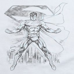 Superman Sketch White